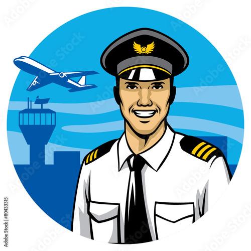 smiling pilot - 80433315