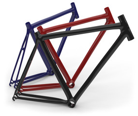Carbon fber bike frames