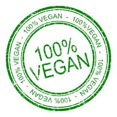 100% vegan Stempel