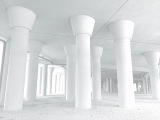 abstract view of column