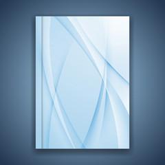 Blue line folder brochure cover design
