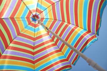 colorful stripes beach umbrella