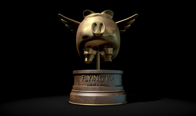 Flying Pig Trophy Award