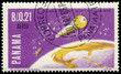 Stamp printed in Panama shows the first Italian Satellite