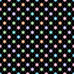 Vector Background #Flower Dot Pattern, Pastel Color