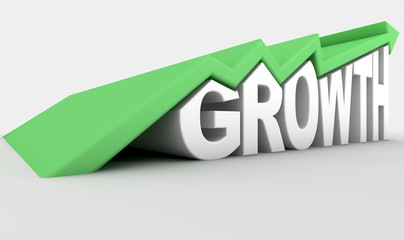 Growth Text And Arrow