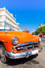 Old car on a beautiful day in Havana