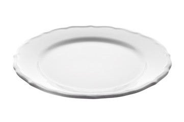 White plate isolated