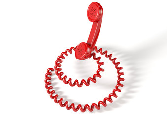 Handset And Coiled Cord