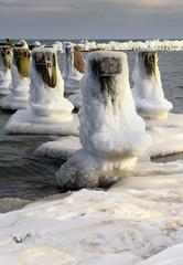 Morze Bałtyckie, zimowa palisada, Polska