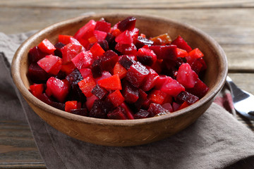 Nutritionally beetroot salad in a bowl