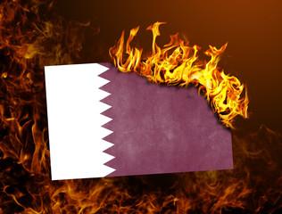 Flag burning - Qatar