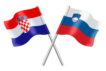 Flags: Croatia and Slovenia