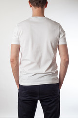 White t-shirt template ready for your graphic design.