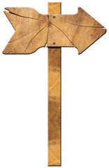 Wooden Directional Sign - One Arrow