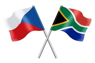 Flags: Czech Republic and South Africa