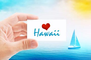 Summer Vacation on Hawaii Beach