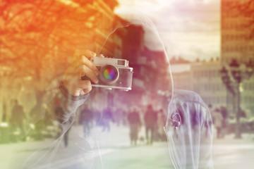Faceless Paparazzi Photographer
