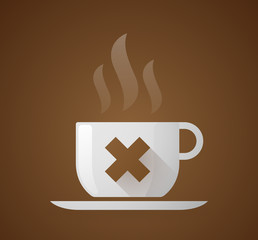 """Coffee cup with an """"X"""" sign"""