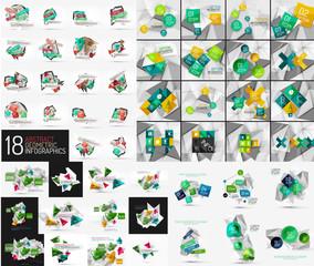 Mega set of infographic templates