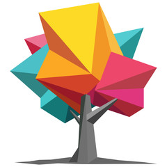 Colorful Origami Tree
