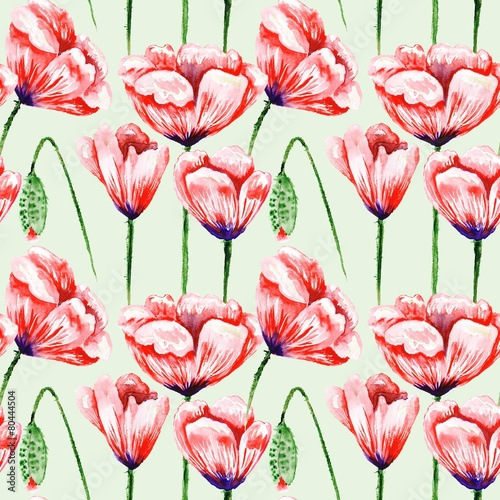Eco Poppy Floral Pattern - 80444504