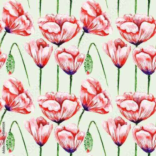 Eco Poppy Floral Pattern - 80444504