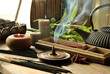 Leinwanddruck Bild - VARIOUS TYPES OF INCENSE