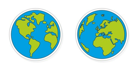 Hand drawn planet earth vector illustration