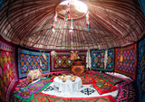 Kazakh yurt interior