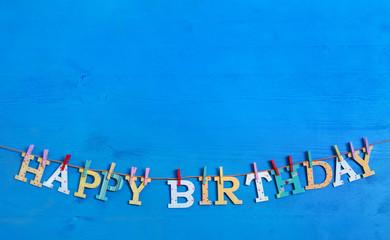 Happy Birthday: Glückwunsch zum Geburtstag Hintergrund blau