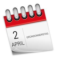 2 April 2015 Gründonnerstag Ostern Kalender