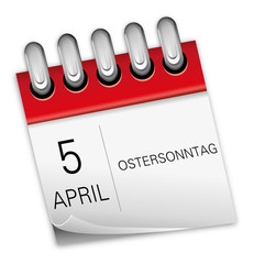 5 April 2015 Ostersonntag Ostern Kalender