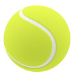 Tennis ball isolated on white background. 3d illustration - 80448144