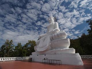 White big Buddha in Pai under bluesky