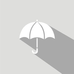 Icono paraguas gris sombra