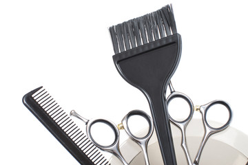 Professional Hair Coloring Tools  - Stock Image