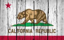 """Постер, картина, фотообои """"California State Flag Grunge Background"""""""