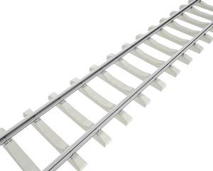 Illustration railway isolated on white background.