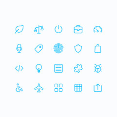 Outline vector icons for web and mobile