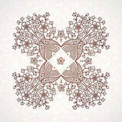 Vector lace pattern in Eastern style.