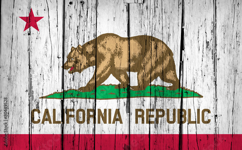 California State Flag Grunge Background - 80449528