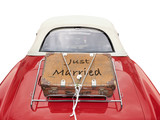 just married - clipping path