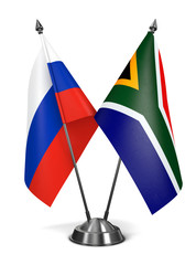 Russia and South Africa - Miniature Flags.