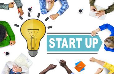 Ideas Startup Creativity Strategy Success Concept