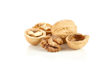 wallnuts on white