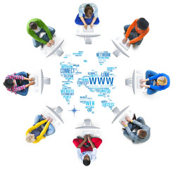 Social Media Internet Connection Global Communications Networkin