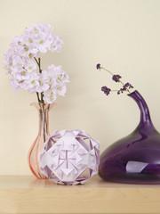 Kusudama ball with sakura flowers