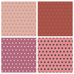 Collection of polka dot patterns
