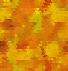 abstract bright yellow bacground from triangles